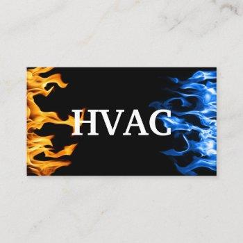 hvac heating and air conditioning cooling  business card
