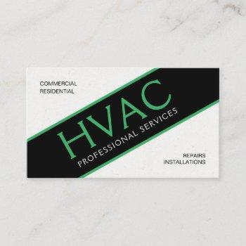 hvac heating & cooling professional business card