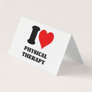i love physical therapy business card