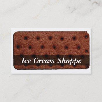 ice cream sandwich business card