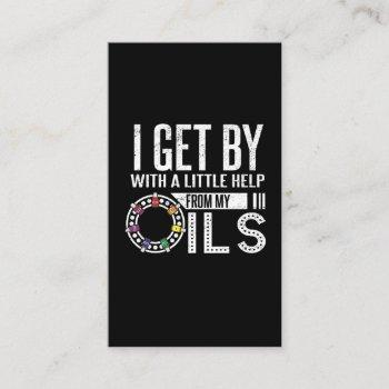 i'm fine with my essential oils business card