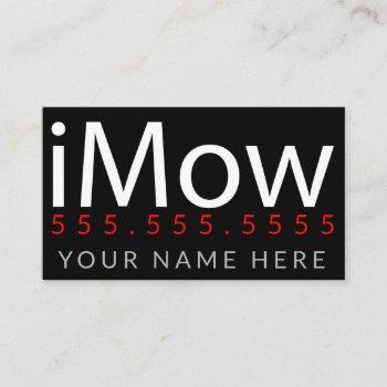 imow. lawn care landscaping promotional customize business card