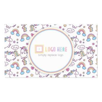 Small Independent Fashion Retailer Business Card Unicorn Front View