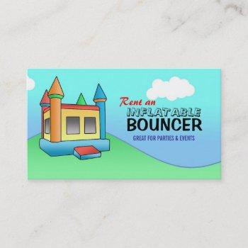 inflatable bouncer business cards