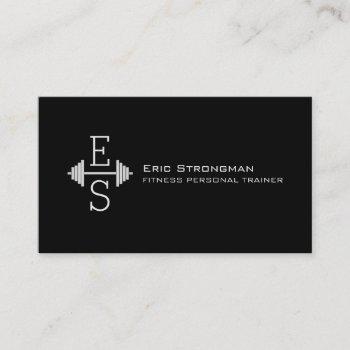 initials logo modern style business card