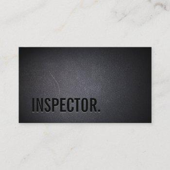 inspector dark minimalist black bold business card