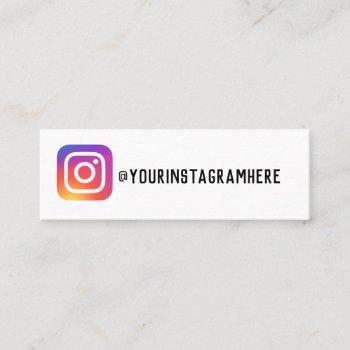 instagram business card