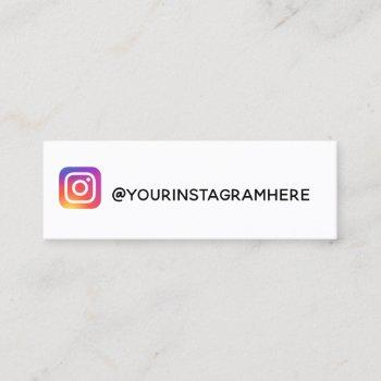 instagram mini business card