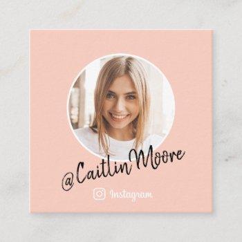 instagram photo modern script trendy social media calling card