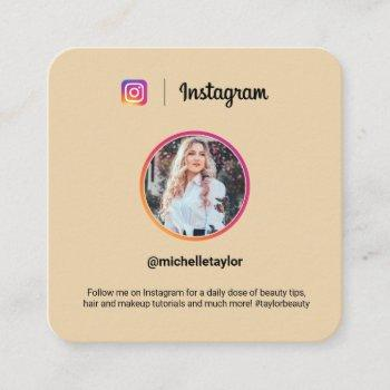 instagram photo trendy social media modern yellow calling card