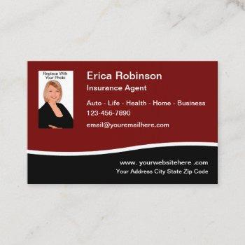insurance agent photo template business card