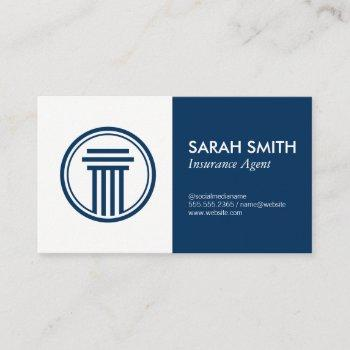 insurance / broker business card
