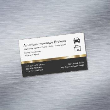 insurance broker business card magnets
