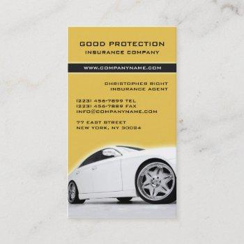 insurance/car dealer business card