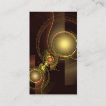 intimate connection abstract art business card