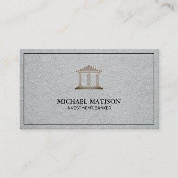 investment banker | institution business card