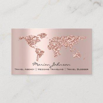 investments finance wedding traveling world rose business card