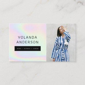 iridescent cool fashion stylist actor model photo business card