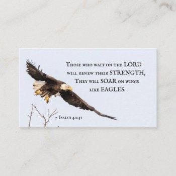 isaiah 40:31 those who wait on the lord, bible business card