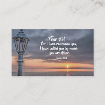isaiah 43:1 fear not for i have redeemed you bible business card