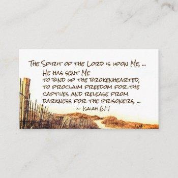 isaiah 61:1 the spirit of the lord is upon me business card
