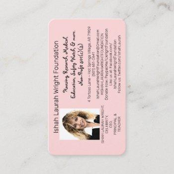 ishah laurah wright foundation business card