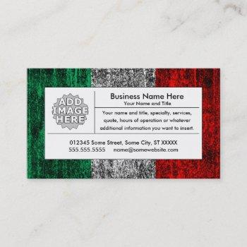 italy flag business card