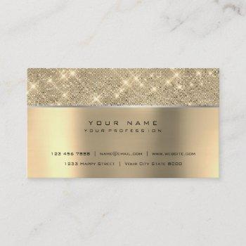 ivory champaign gold diamond stripes  glitter vip business card