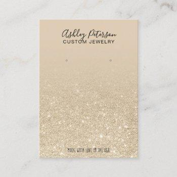 ivory light gold glitter jewelry earring display business card