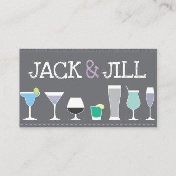 jack and jill tickets - bar drinks in gray