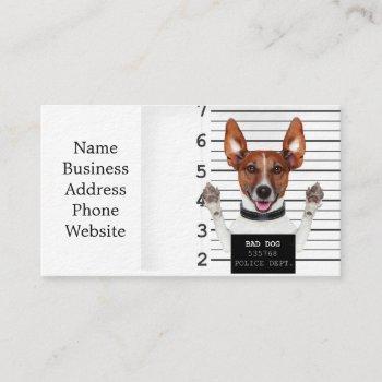 jack russell prisoner business card