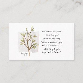 jeremiah 29:11 for i know the plans i have for you business card
