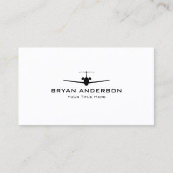 jet airplane business card