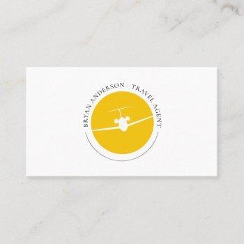 jet airplane logo business card