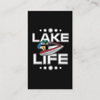 jet ski gift lake life beach holiday funny jetski business card