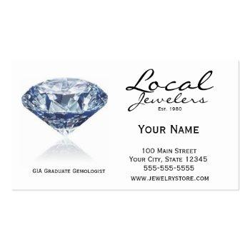 Small Jeweler Card Front View