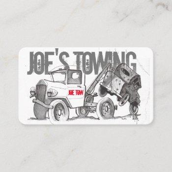 joe tow business card
