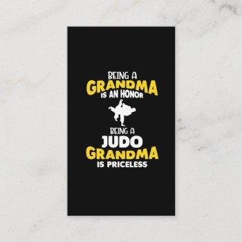 judo grandma family martial arts self defense business card