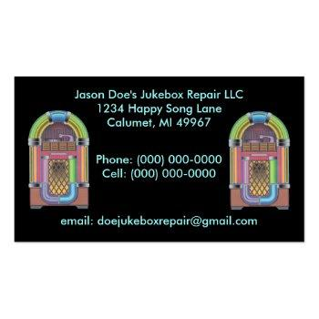 Small Jukeboxes Jukebox ~ Retro Style Business Card Front View