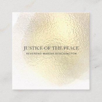 *~* justice of the peace - abstract  yellow gold square business card