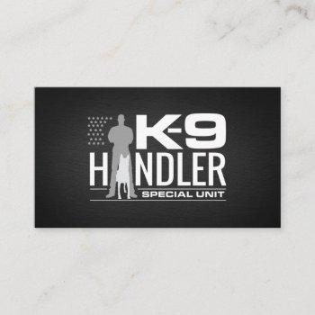 k9 handler - k9 officer- k9 unit business card