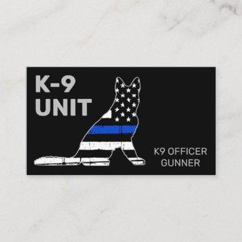 k9 unit law enforcement thin blue line police dog business card