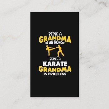 karate grandma family martial arts self defense business card
