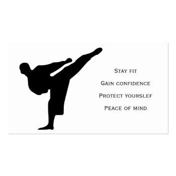 Small Karate Instructor Business Card Back View