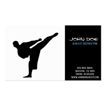 Small Karate Instructor Business Card Front View