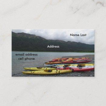 kayak & bicycle business card