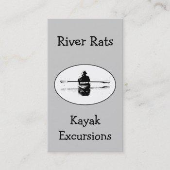 kayak & river guide business card