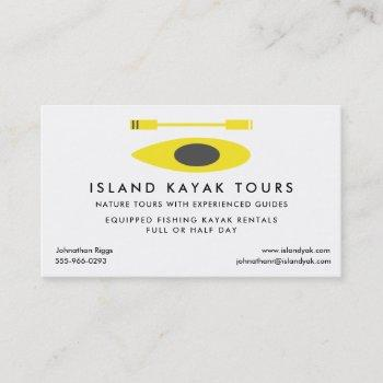 kayak tour guide business card