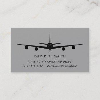 kc-135 stratotanker pilot with matching pattern business card