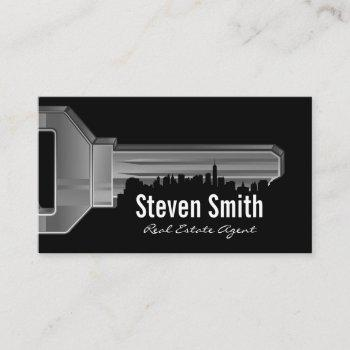 key & cityscape business card